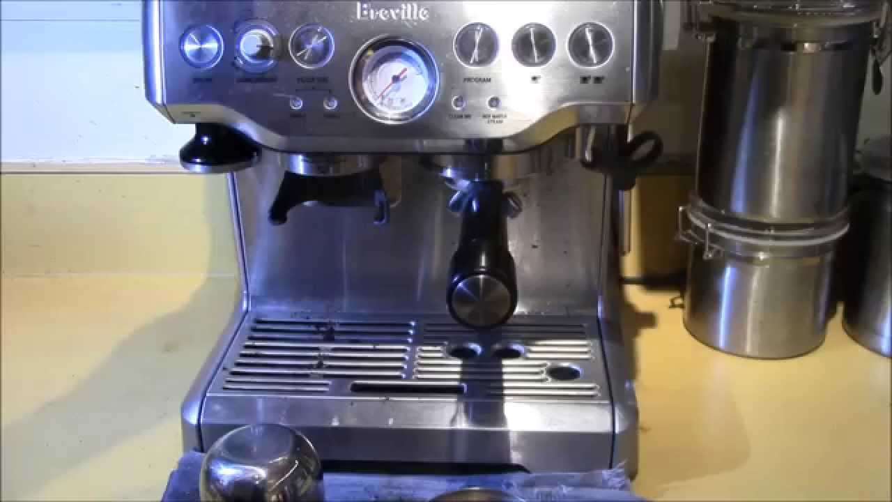 breville bes870xl barista express espresso machine demoreview youtube