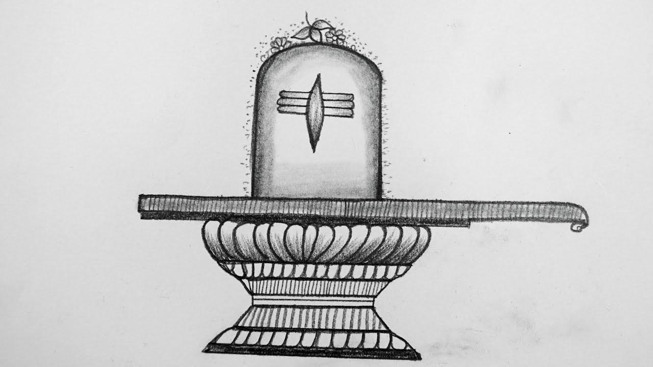 How To Draw Shiva Lingam    Shivling Drawing Easy    Maha ...