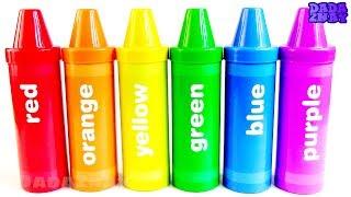 Учим цвета с Карандашами Сюрпризами|48 Сюрпризов|Цветные Большие Карандаши|Учим цвета