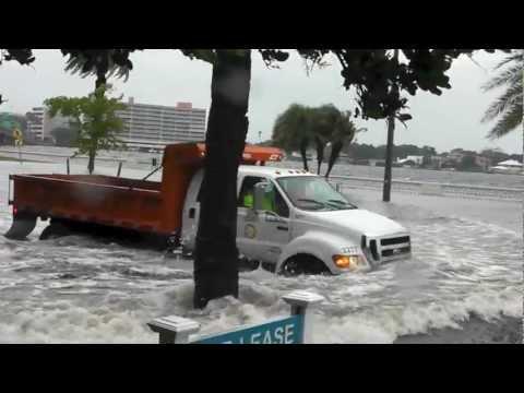 TROPICAL STORM DEBBY - TAMPA FLORIDA - BAYSHORE AVE / DAVIS ISLAND / SOUTH TAMPA