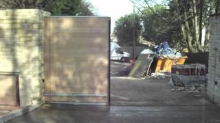 Automated Sliding Oak Driveway Gates