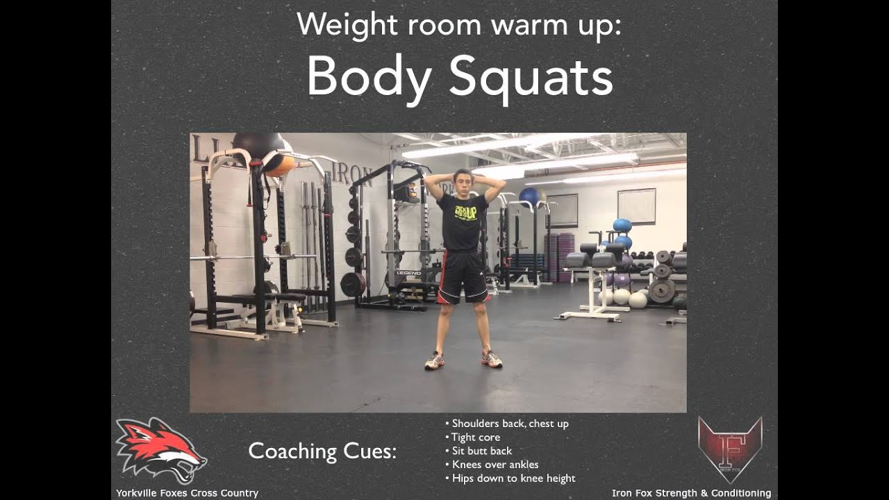 Sample weightroom routine for cross country runners youtube