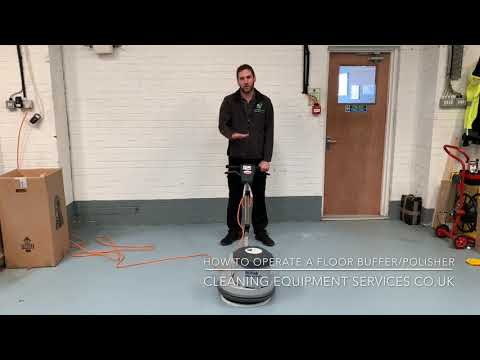 How To Operate And Use A Floor Polisher/Buffer Polishing/Buffing Machine