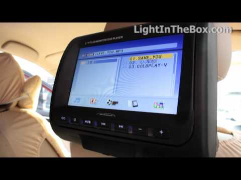 Car Headrest DVD Player From LightInTheBox