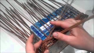 Шкатулка прямоугольная из газетных трубочек. Урок 7-2. Плетение стенок, загибка.