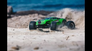 ARRMA 1/10 FAZON VOLTAGE MEGA Truck 2WD RTR Green/Black Video