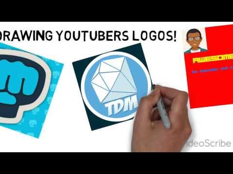Drawing Youtubers Logo!