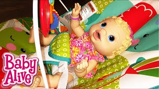 New Fisher Price Animal Party Bouncer with Baby Alive Dolls from Target