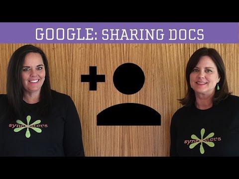 Sharing Google Docs Tutorial