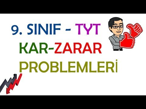 9. SINIF - TYT - KAR ZARAR PROBLEMLERİ
