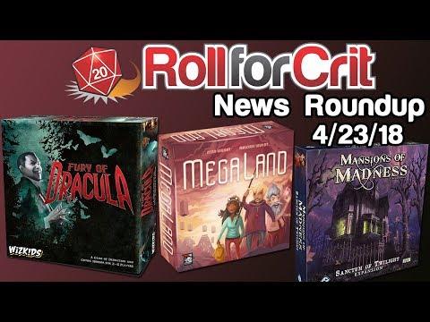Modern Classics + Fury of Dracula 4th Edition | News Roundup 4/23/18