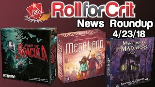Modern Classics + Fury of Dracula 4th Edition | News Roundup 4/23/18