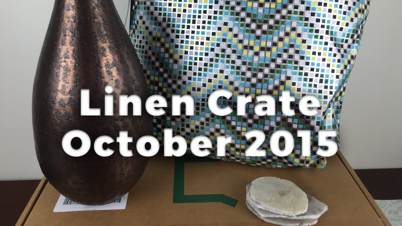 Linen Crate October 2015 Unboxing Review Home Decor