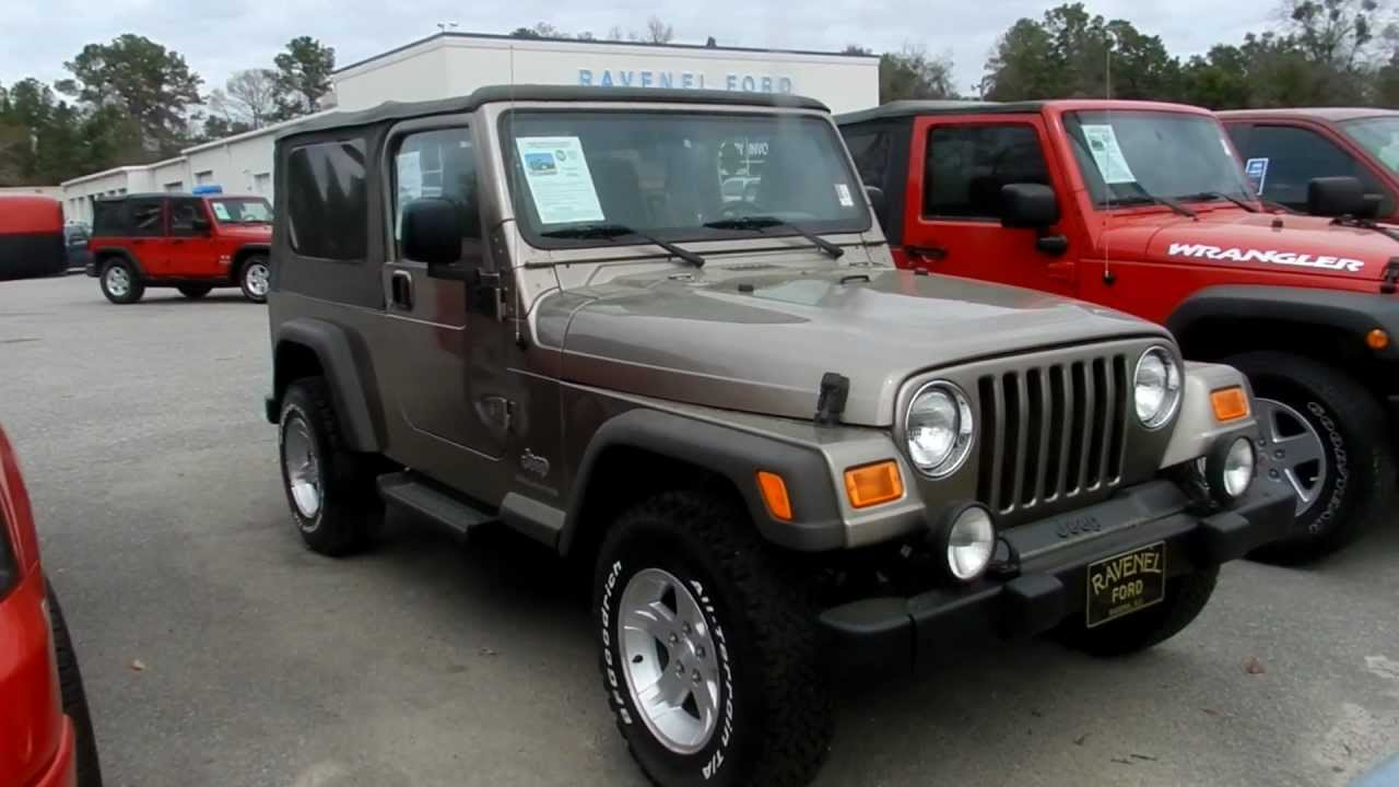 2005 jeep wrangler tj unlimited 4x4 review charleston. Black Bedroom Furniture Sets. Home Design Ideas