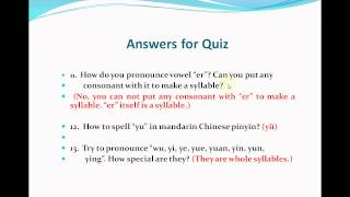 Repeat youtube video Mandarin Chinese--Lesson 20(Answers for Quiz)