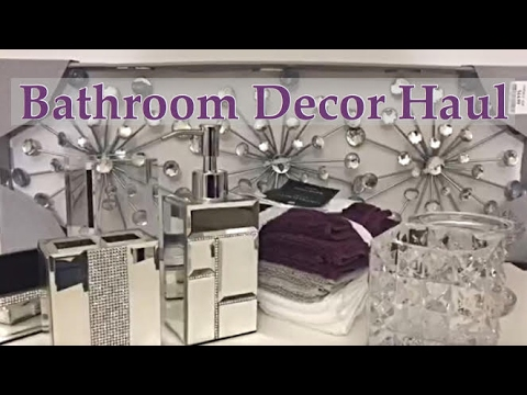Mini bathroom decor haul plus shop with me marshalls for Bathroom decor home goods