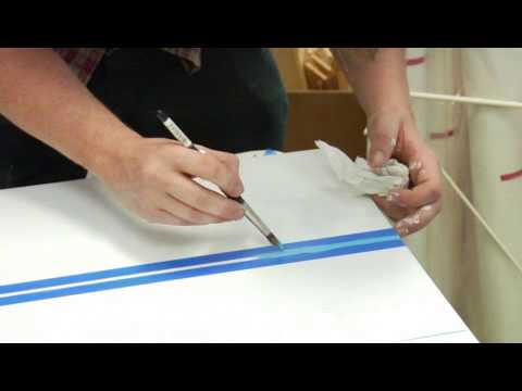 How To Draw Straight Line In Art Studio : How to paint a straight line on canvas art youtube