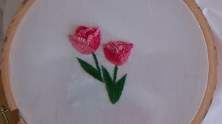 Hand Embroidery: Tulip Stitch