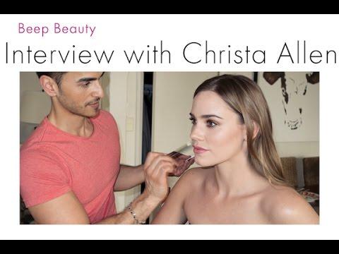 Celebrity  with actress Christa Allen