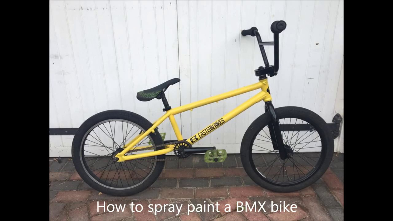How to Spray Paint a BMX Bike (Step By Step) - YouTube