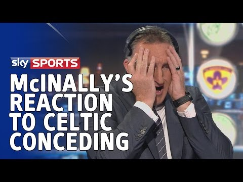 Alan McInally's reaction to Celtic conceding to Maribor in the Champions League