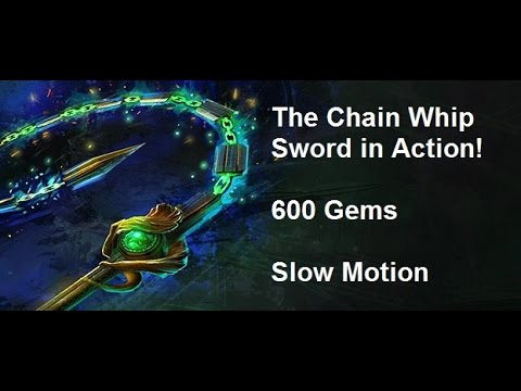 Guild Wars 2 - Chain Whip Sword in Action - 600 Gems