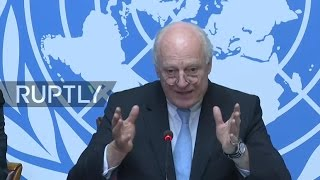 LIVE  De Mistura holds press conference ahead of new round of intra Syrian talks