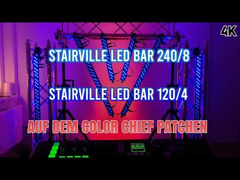 Tutorial Stairville Led Bar 240/8 & 120/4 Rgb Dmx 30° Auf Dem Eurolite Color Chief Patchen 4k 60 Fps