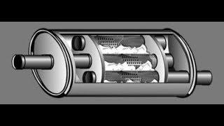 видео Принцип работы выхлопной системы в разрезе