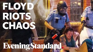 George Floyd Minneapolis protest: riot chaos as one man shot dead nearby