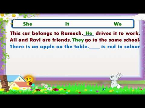Learn Grade 3 - English Grammar - Pronouns