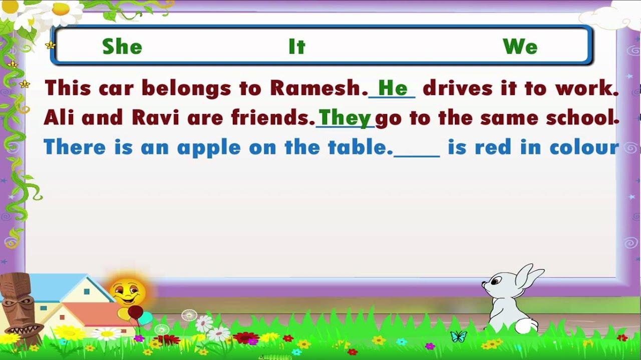 Learn Grade 3 - English Grammar - Pronouns - YouTube