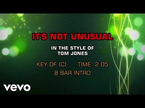 Tom Jones - It's Not Unusual (Karaoke)