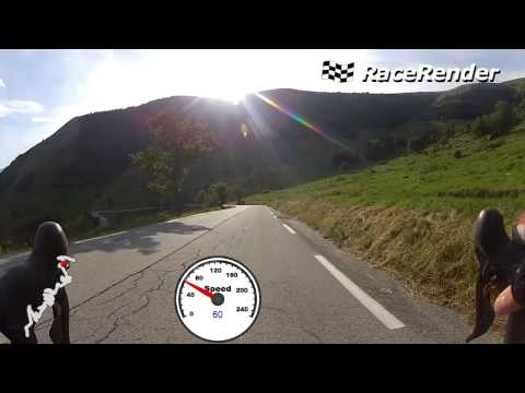 Best Extreme Road Alp D Huez Bike Descent/ High Speed Overtaking Cars / Tour de France descent