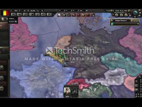 Hearts of Iron IV - Conquering Luxembourg as Belgium