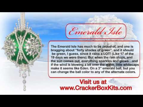 Christmas Ornament Kit From The Cracker Box - Emerald Isle