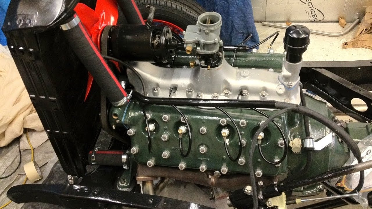 1934 ford flathead v8 engine start up following re build