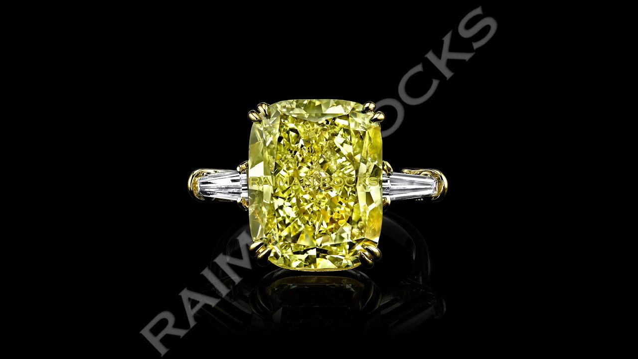 diamond ring canary fancy michael jewelry designers rings beaudry yellow platinum