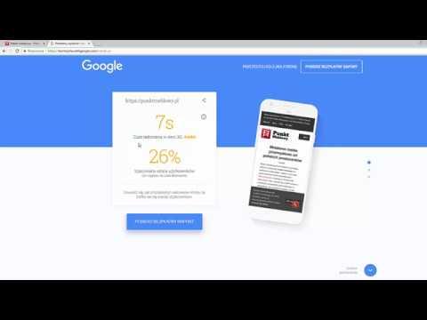 Test my site with Google - Jak zmierzyć szybkość ładowania strony mobilnej?