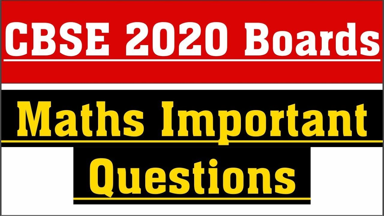100 Important Questions Class 12 Maths | Guess Paper (Expected 2019)