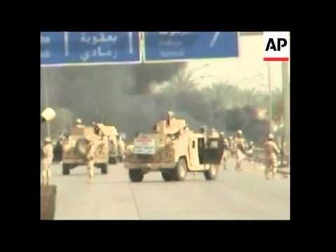 Roadside bomb hits US convoy in Baghdad