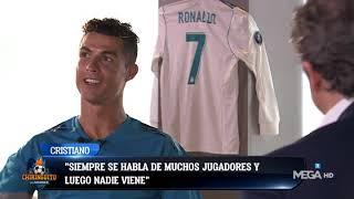 Cristiano con Josep Pedrerol: