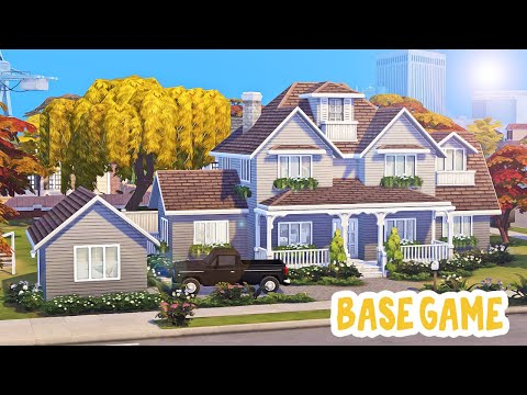 Large Base Game Family Home 🏡 || The Sims 4: Speed Build