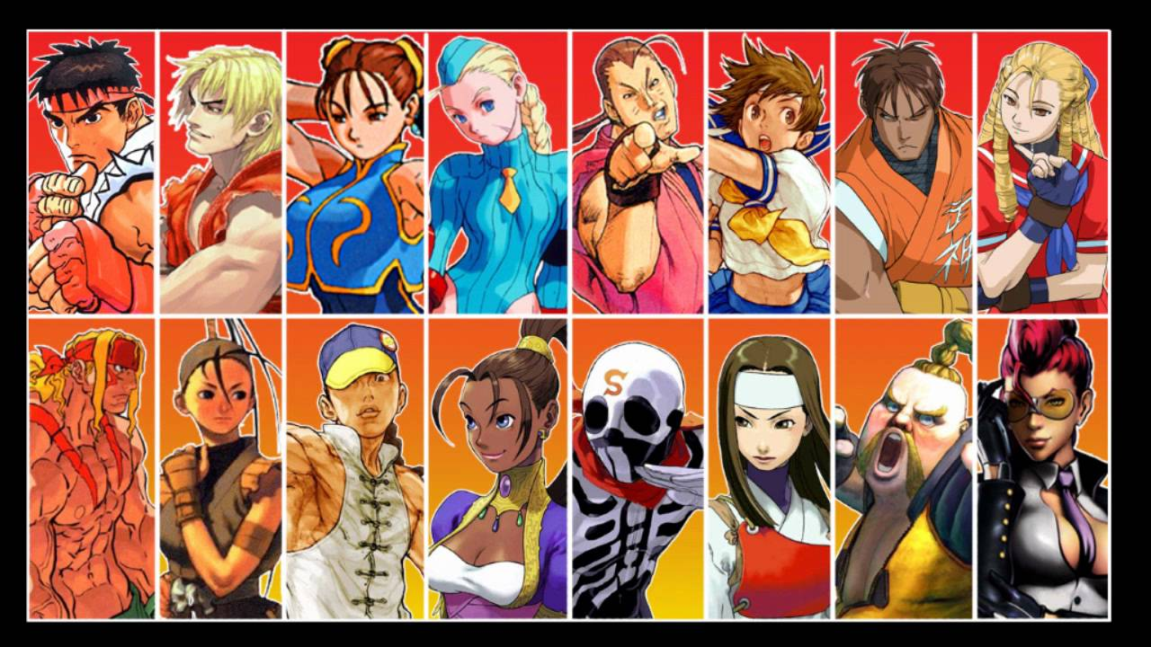 Street Fighter All Character Select Themes Youtube