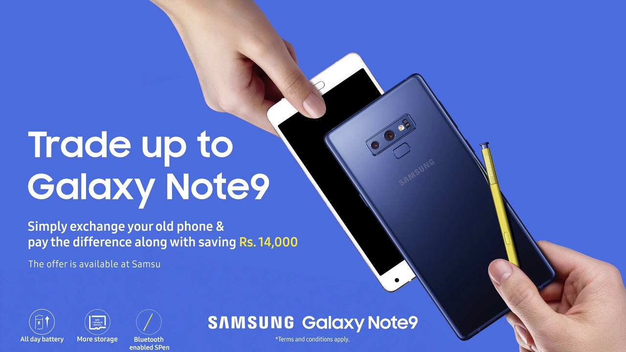 8cf4f31319d Exchange your old phone with the Galaxy Note9 - YouTube