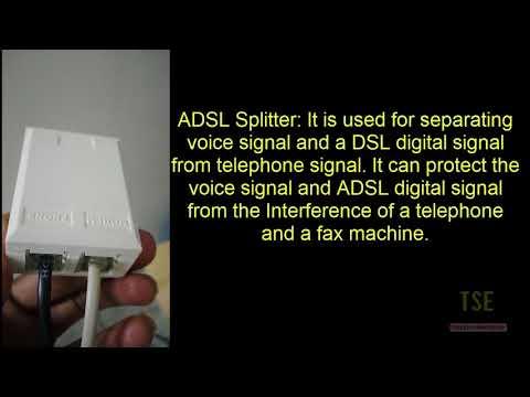 ADSL Splitter Connection In Broadband