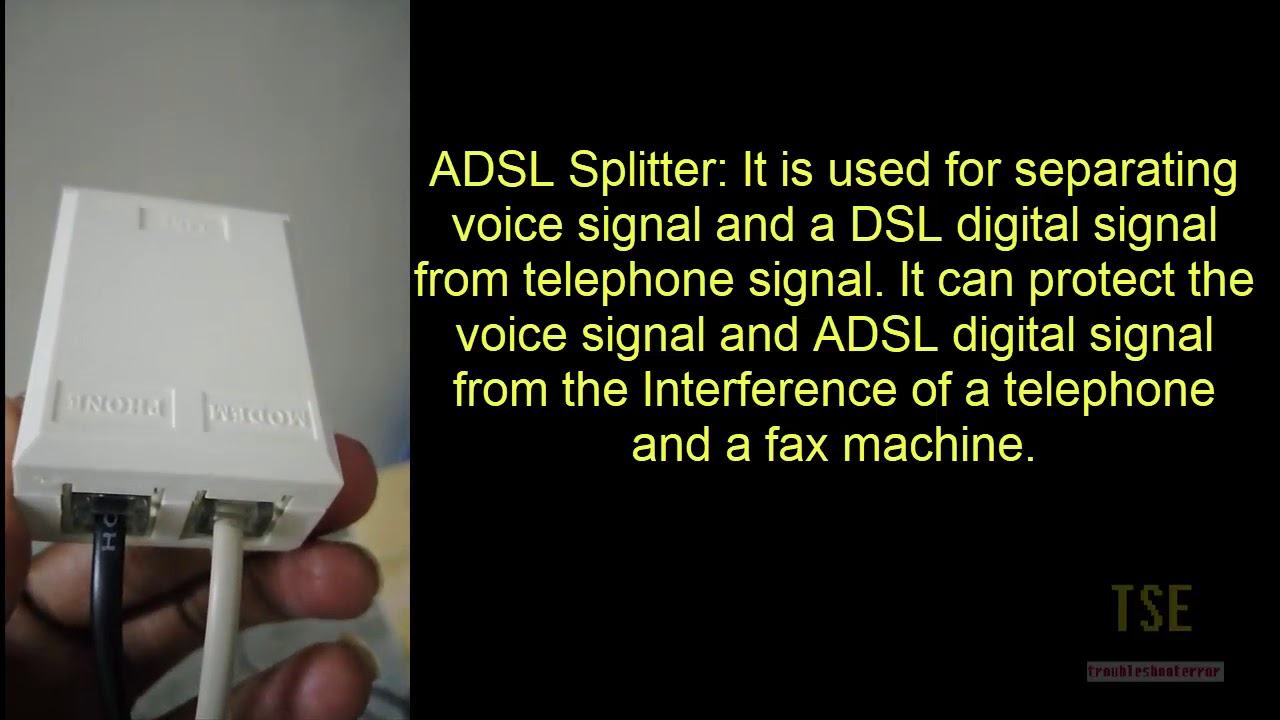 adsl splitter connection in broadband [ 1280 x 720 Pixel ]