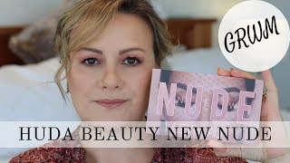 GRWM Huda Beauty New Nudes Eyeshadow Palette - Mature Beauty/Over 50