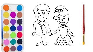 learn colors Drawing broom and bride for toodles and kids NEW 2018