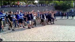 DFB Pokal Finale 2011 MSV Duisburg Schalke 04 Einmarsch vor dem Spiel